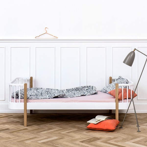 Oliver Furniture Bett Einzelbett Wood Collection Eiche 90x200 cm