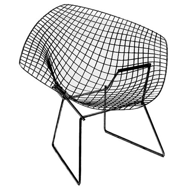 Knoll International Knoll - Bertoia Diamond Outdoor-Sessel, schwarz